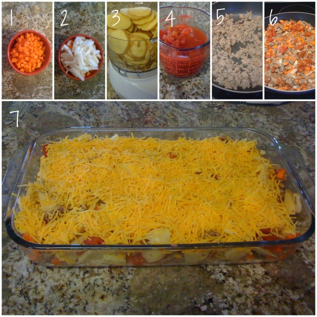 meat and potato casserole ingredients